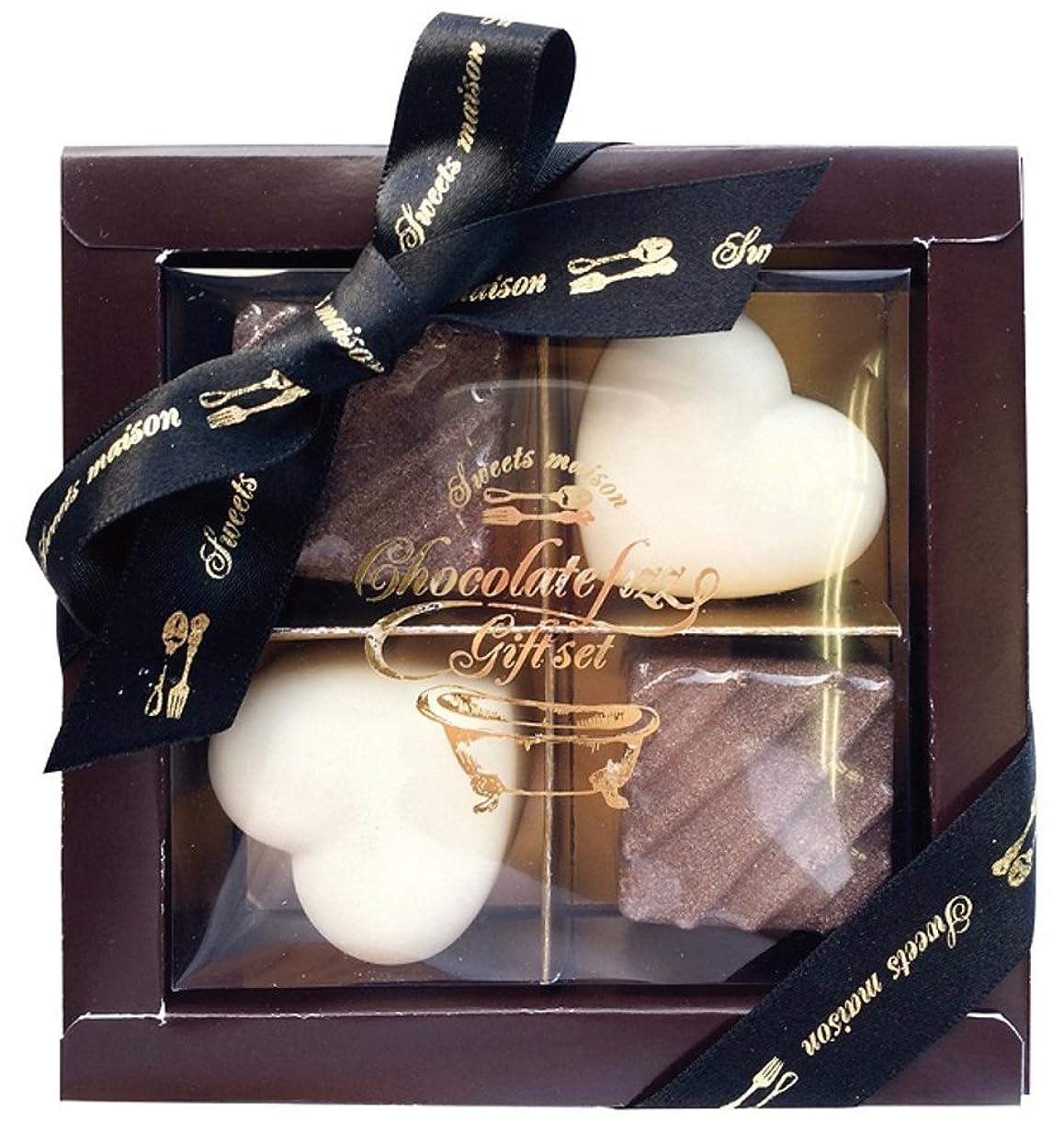 シミュレートする大事にするバンドノルコーポレーション 入浴剤 ギフトセット チョコレートフィズ ブラウンボックス OB-SMG-5-1