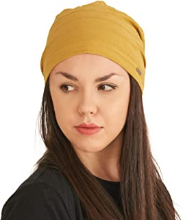 Womens Light Weight Summer Beanie - Mens Slouchy Beanie Hat Stretchy Slouch Knit Cap 100% Cotton Chemo Hat