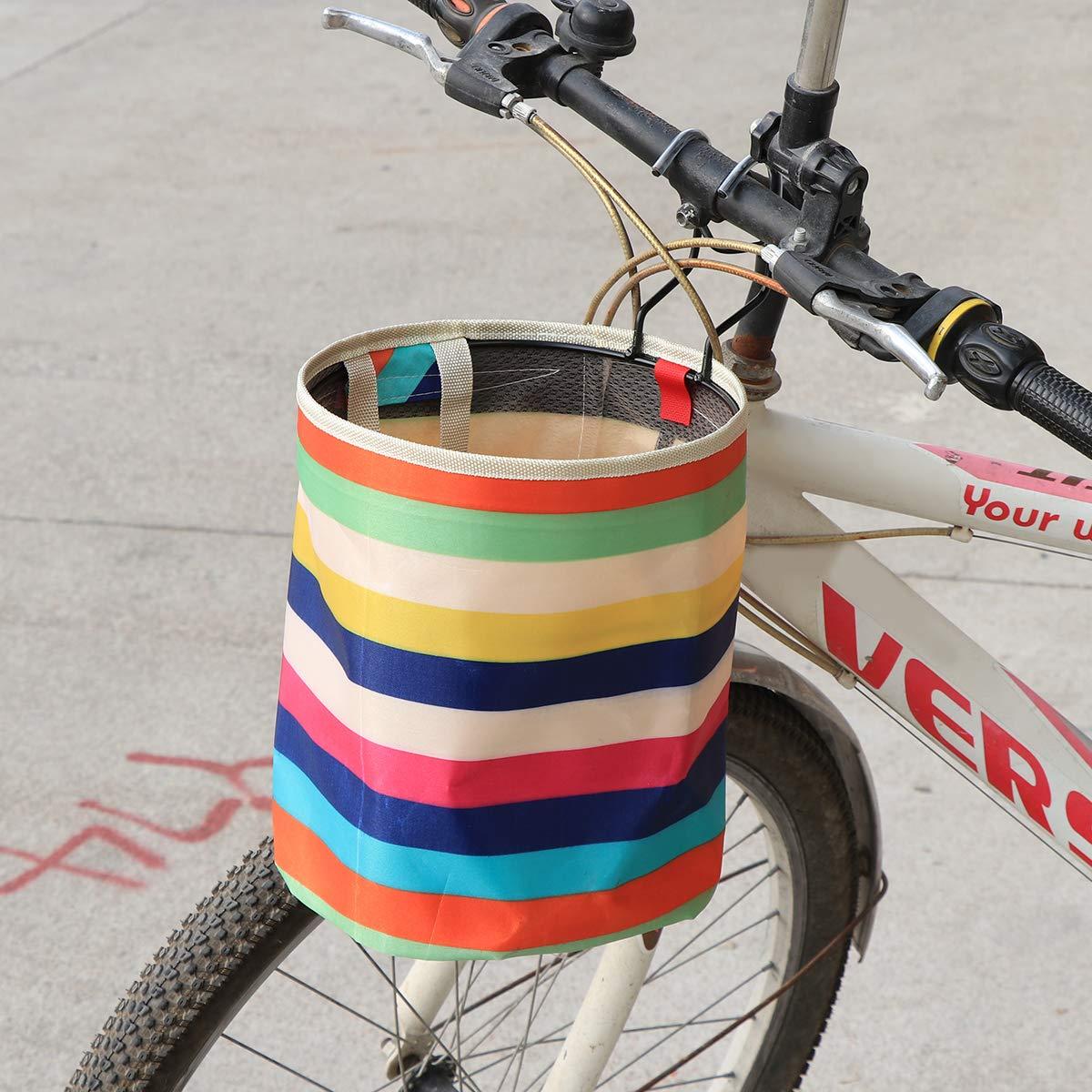 LIOOBO Lona Impermeable Cesta de la Bicicleta Cesta Plegable Bolsa ...