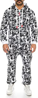 Raff & Taff Men's Jumpsuit Overall Tracksuit Fitness Clothing Onesie Full Body Suit Basic and Simple