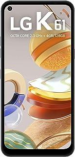 """Smartphone LG K61 ,128GB, RAM de 4GB, Tela de 6,55"""" HD+ 19.5:9, Inteligência Artificial,Câmera Quádrupla e Processador Oct..."""