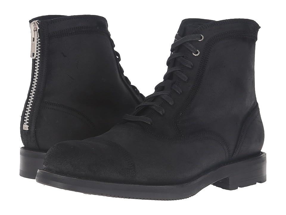 Frye Brayden Bal Lace-Up (Black Waxed Vintage Leather) Men