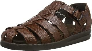SAM MAMOUTH Desert Brown Leather Sandal for Men 42(EUR) 8(US)