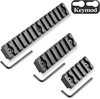 Monoki Keymod Picatinny Rail Sections, 5-Slot 7-Slot 13-Slot Lightweight Picatinny Rail Section for Keymod Handguard Mount Rail System with 3 Allen Wrench & Solid-Style, 3 Pack (5/7/13-Slot)