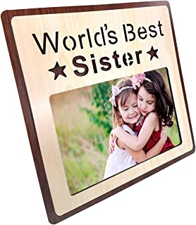 Art Street Wood Personalized Photo Frame (4 x 6 inch, Multicolour)