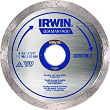 Irwin, Disco Diamantado Liso Standard 110 x 20 mm, Prata