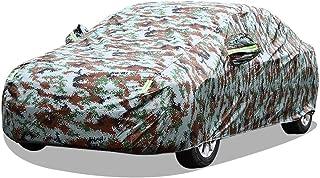 Whitejianpeak wasserdichte Autoabdeckung Kompatibel Mit Volkswagen VW e Golf,EOS,Fox,GLI Autoplanen Autogarage Abdeckung Vollgarage Abdeckplane Wasserdicht (Color : Camouflage, Size : Fox)