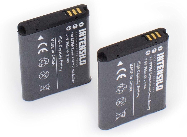 Intensilo 2x Li Ion Akku 700mah Für Kamera Camcorder Elektronik