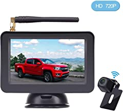 HD Digital Wireless Backup Camera Kit, Stable Signal Reverse Camera System with Super Night Vision, IP69K Waterproof Rear View Camera 5'' TFT Monitor for Trucks,Vans,Campers,SUV Guide Lines On/Off