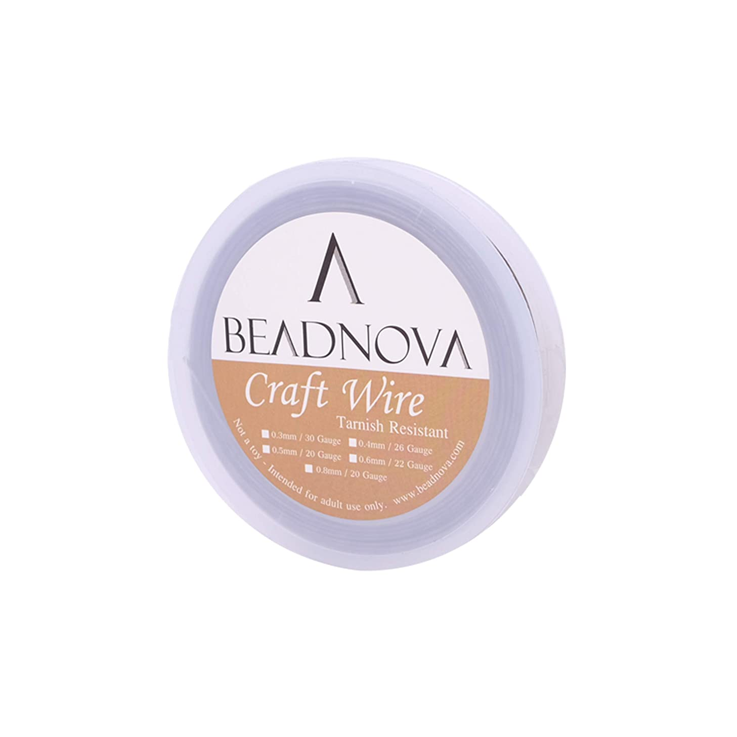 BEADNOVA 18-Gauge Stainless Steel Wire Tarnish Resistant Shiny Steel Wire for Jewelry Making (11 Yards)