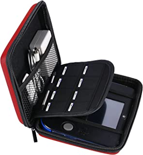 AKWOX Carrying Case for Nintendo 2DS with 8 Game Holders (Red)
