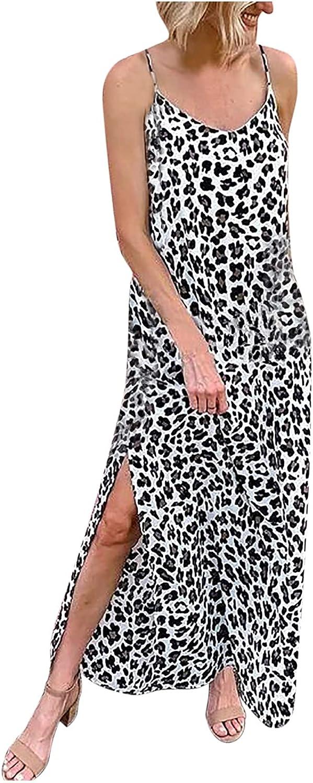 Qonii Leopard Print Dress for Strap Women Spaghetti NEW Max 78% OFF Casual