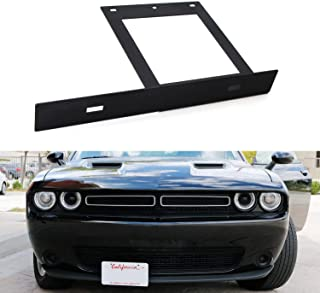 iJDMTOY No Drill Required Front License Plate Mounting Bracket Relocator For 2008-up Dodge Challenger