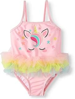 Wonder Nation Infant Girls Unicorn Gumball Pink One Piece Swimsuit