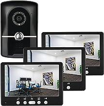 Videodeurbel, Intercom, Bekabelde Deurkijker Deurinvoersysteem, 7 Inch Videodeurtelefoon Home Security Kit, IR-Nachtzichtc...