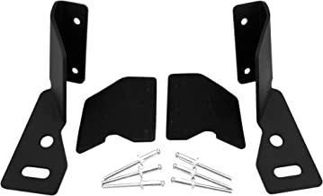 GS Power's Lower Windshield A-pillar Hinge Mount Brackets for Auxiliary Off-Road LED, HID or Halogen Fog and Work Lights | Compatible with Jeep Cherokee XJ (1984 – 2001) & Comanche MJ (1986 – 1992)