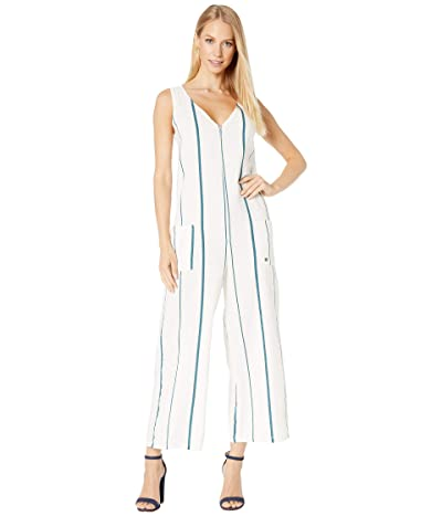 Roxy Baby Remember Jumpsuit (Snow White Thin Bold Stripes) Women