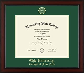 Ohio University College of Fine Arts - Officially Licensed - PhD - Gold Embossed Diploma Frame - Diploma Size 15