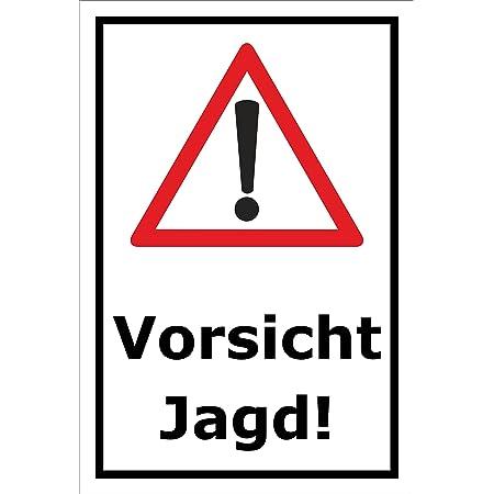 Melis Folienwerkstatt Schild Vorsicht Jagd 45x30cm Bohrlöcher 3mm Aluverbund 20 Var S00351 005 A Küche Haushalt