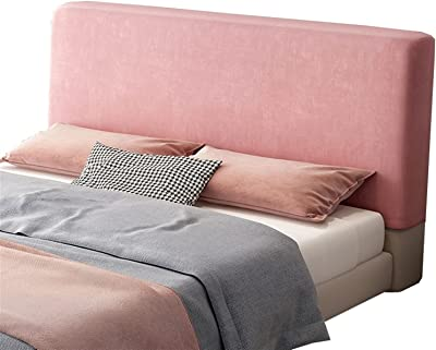 Bed Headboard Cover Single/Double/King Size, Elastic Headboard Protection Cover Pink/Blue 180cm/200cm, Dustproof All-Inclusive Design Solid Color Elastic Protection (Color : #5, Size : 180cm)