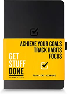 """Undated Productivity Journal, 13 Week Planner for Goal Setting Plus 31 Daily Pages, 8.3""""x5.5"""" :: Includes Guide with Tips ..."""