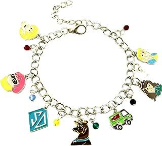 Athena Brands Scooby Doo Cartoon Charm Bracelet Quality Cosplay Jewelry Series with Gift Box