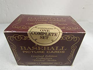 1986 Topps Tiffany Traded Factory Sealed Set 132 Cards , Barry Bonds, Bo Jackson , Will Clark And Many Other Rookies