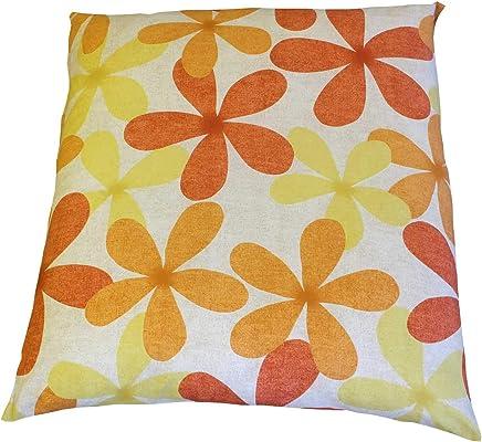 座布団カバー 綿100%クリフ サイズ55x59cm日本製 55x59 オレンジ