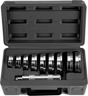 Orion Motor Tech Bearing Race and Seal Bushing Driver Install Set 9 Discs Collar Axle Housing with Carrying Case Master/Universal Aluminum Kit for Automotive Wheel Bearings