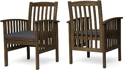 Amazon.com: Walker Edison Mueble de madera de acacia., 2 ...