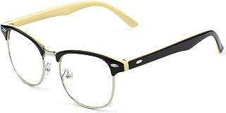 GQUEEN Vintage Inspiré Half Frame Clear lunettes PF6