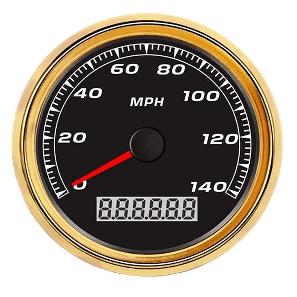 シリング南火傷圧力計 ユニバーサル 車 トラック オートバイ GPSスピードメーター スピード走行距離計 140MPH バックライト付き 12V 24V センサー