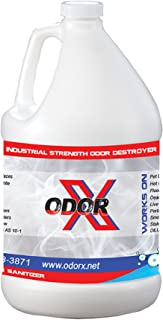 Odor-X (1 Gallon) Industrial Strength, All-Purpose Stain and Odor Remover - Eliminate Pet Urine, Smoke, and Skunk Smells from All Surfaces