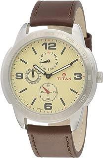 Titan Purple Upgrades Analog Off-White Dial Men's Watch -NK1585SL05
