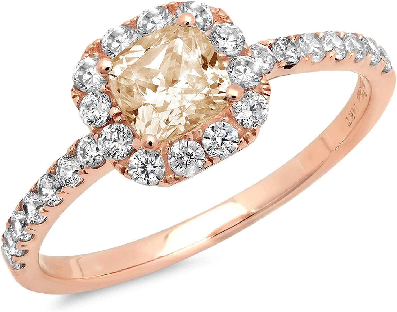 1.34ct Brilliant Princess Cut Solitaire with accent Designer Genuine Natural Morganite Gemstone Ideal VVS1 Engagement Promise Statement Anniversary Bridal Wedding ring 14k Pink Rose Gold