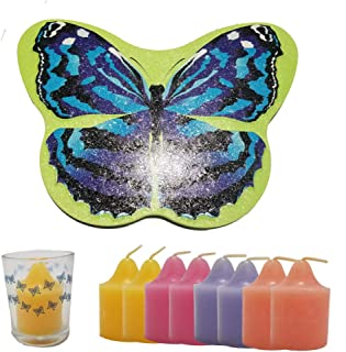 Butterfly Tin and Votive Holder and Candles Gift Set - Mother's Day - Retired Partylite