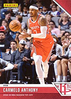 2018-19 Panini Instant #3 Carmelo Anthony Basketball Card - 1st Card in a Houston Rockets Jersey - Only 330 made!