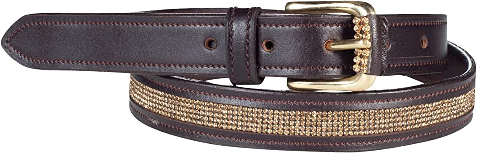 Horze Women's Crescendo Narrow Crystal Belt