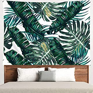 Grace store Leaf Tapestry Palm Tree Leaves Wall Tapestry Mandala Plants Wall Tapestry for Bedroom Living Room Dorm, Twin Size, W78 x L58