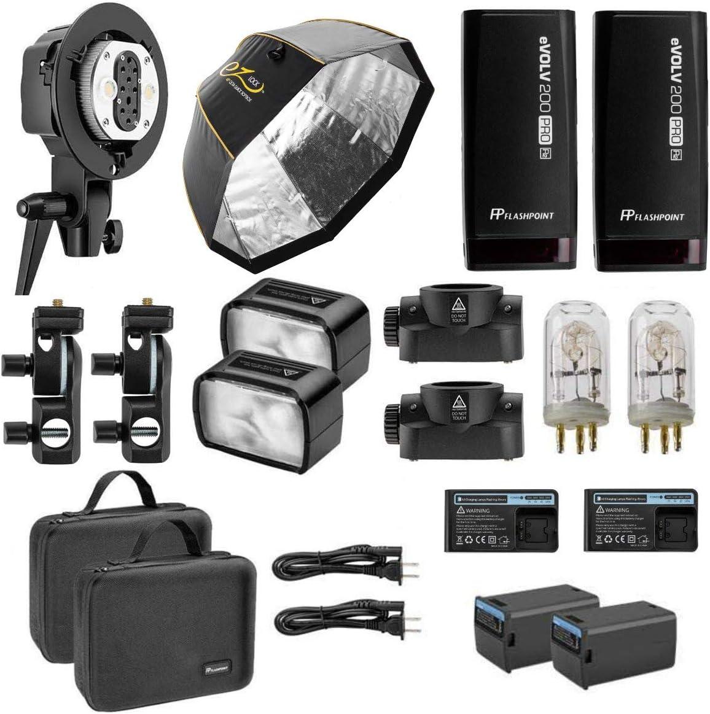 Flashpoint 2X eVOLV Super beauty product restock quality Sale top 200 Pro TTL Pocket Godox Flash - Kit P AD200