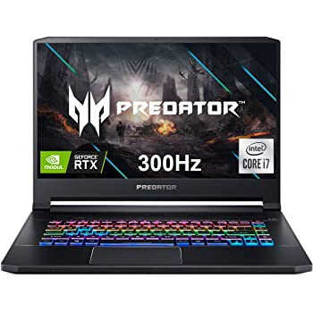 "Acer Predator Triton 500 PT515-52-73L3 Gaming Laptop, Intel i7-10750H, NVIDIA GeForce RTX 2070 Super, 15.6"" FHD NVIDIA G-SYNC Display, 300Hz, 16GB Dual-Channel DDR4, 512GB NVMe SSD, RGB Backlit KB"