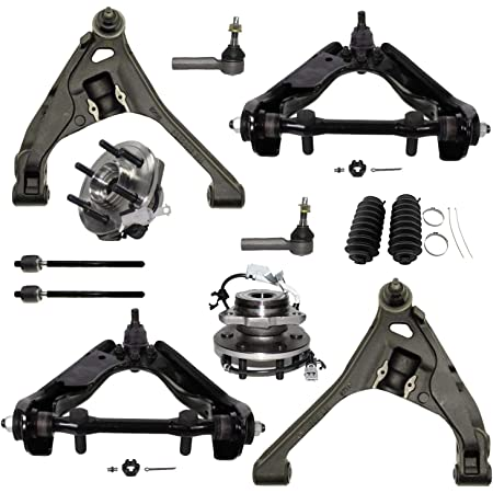 Detroit Axle Front Upper and Lower Control Arms for 2000 2001 2002 2003 Dodge Durango 4WD - 2000-2004 Dakota 4WD 8PC Suspension Kit Front and Rear Shock Absorbers