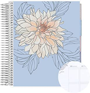 """$61 » 12 Month 7"""" x 9"""" Spiral Coiled Vertical Weekly Life Planner/Agenda (July 2021 - June 2022). Flora Flexible Cover, Flora In..."""