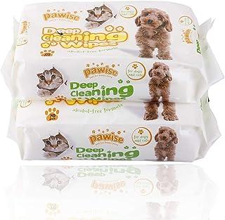 PAWISE - Toallitas limpiadoras hipoalergénicas y desodorizantes para perros y gatos (paquete de 2) Toallitas naturales par...