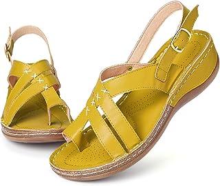 gracosy kilsandaler för kvinnor sommar promenadsandaler plattform kiltofflor ortopediska flip-flops sommar bohemiska stran...