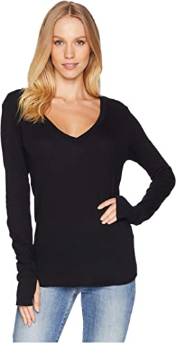 Essential Cotton Long Sleeve V-Neck