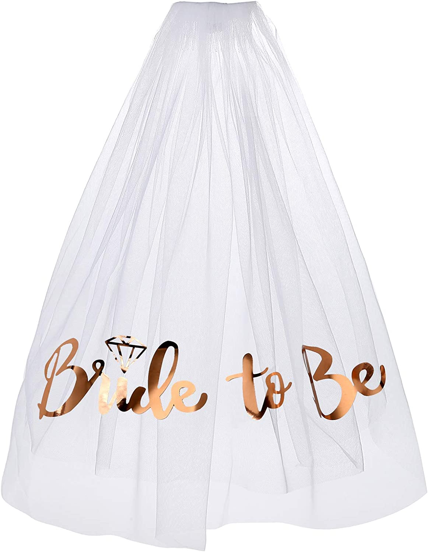 Bachelorette Party Veil Print Bride To Be Veil Bridal Shower veil Engagement Decoration Accessories Gift