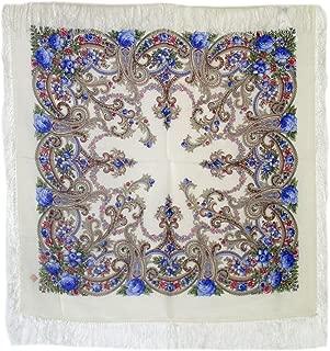 Medium Russian Woolen Shawl #134504 (silk fringe)