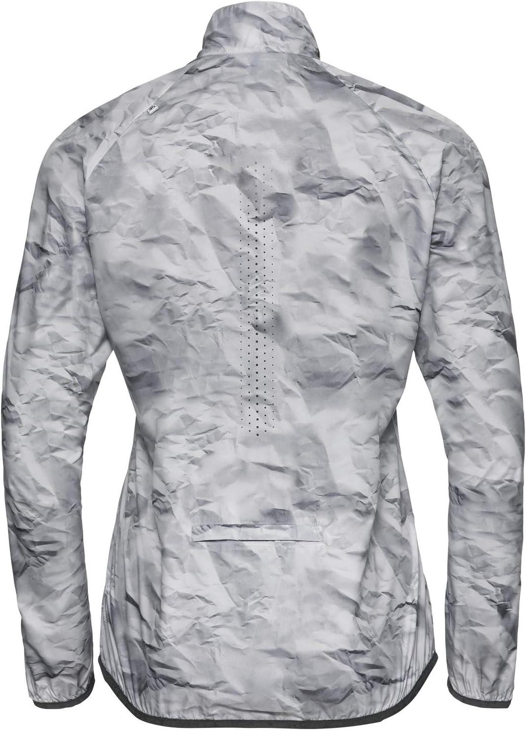 Odlo Damen Zeroweight Trainingsjacke Silber Jacken Grau