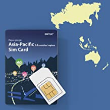 GMYLE Thailand, Hong Kong, Taiwan, etc, Prepaid SIM Card, 5GB 14 Days Asia Pacific 14 Countries 4G LTE/3G Travel Data, Top up Anytime and Anywhere